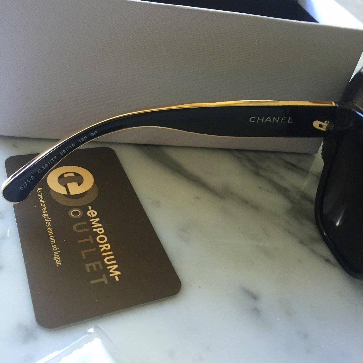 Oculos Chanel 5271 Original Cat Eye Gatinho Lançamento - R  549,00 ... cb34e517d7
