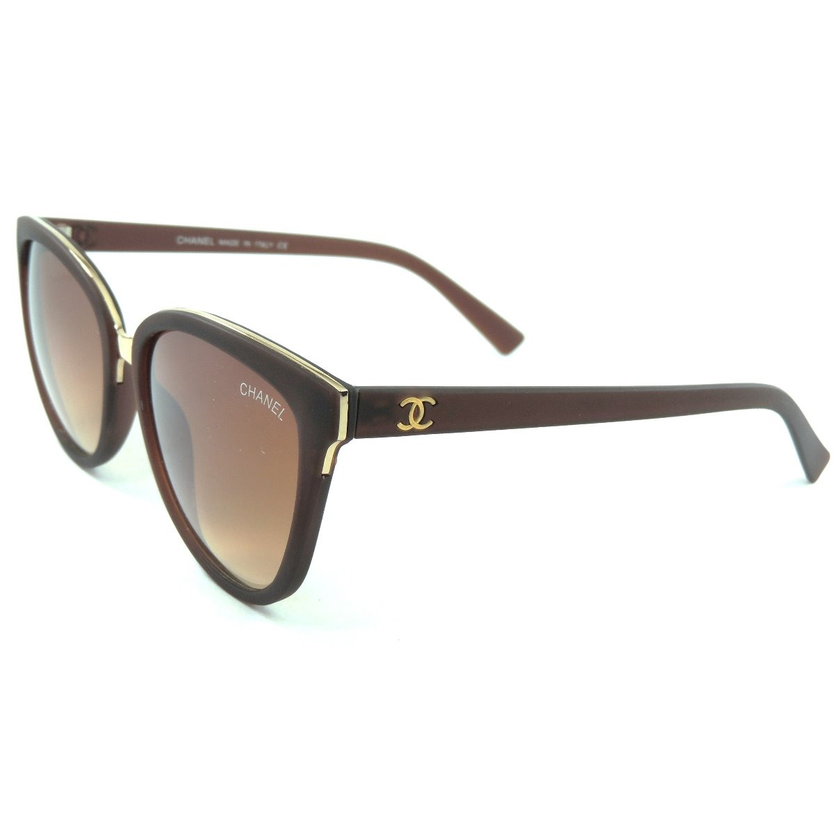 02e9d358d óculos chanel feminino marrom luxo proteção uv400 frete grát. Carregando  zoom.