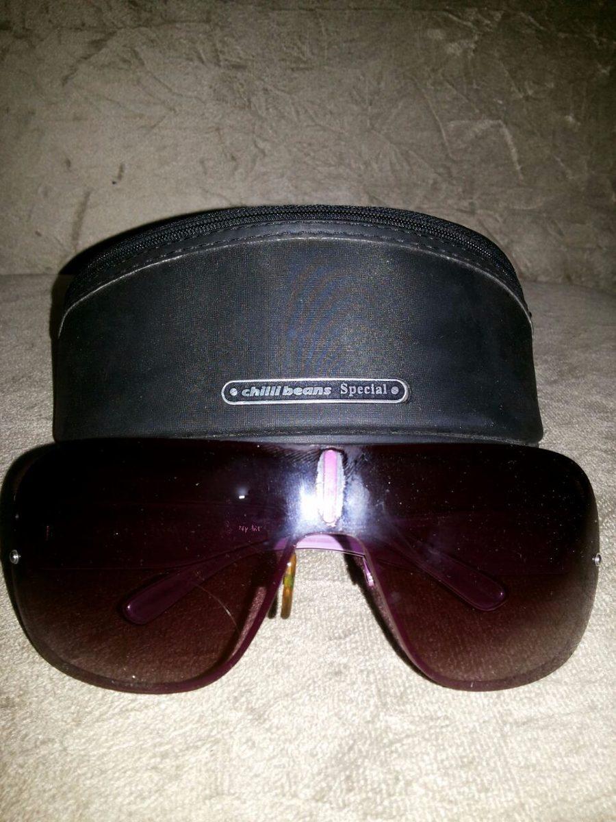 8e8f61bec83c1 óculos chilli beans special roxo com porta óculos. Carregando zoom.