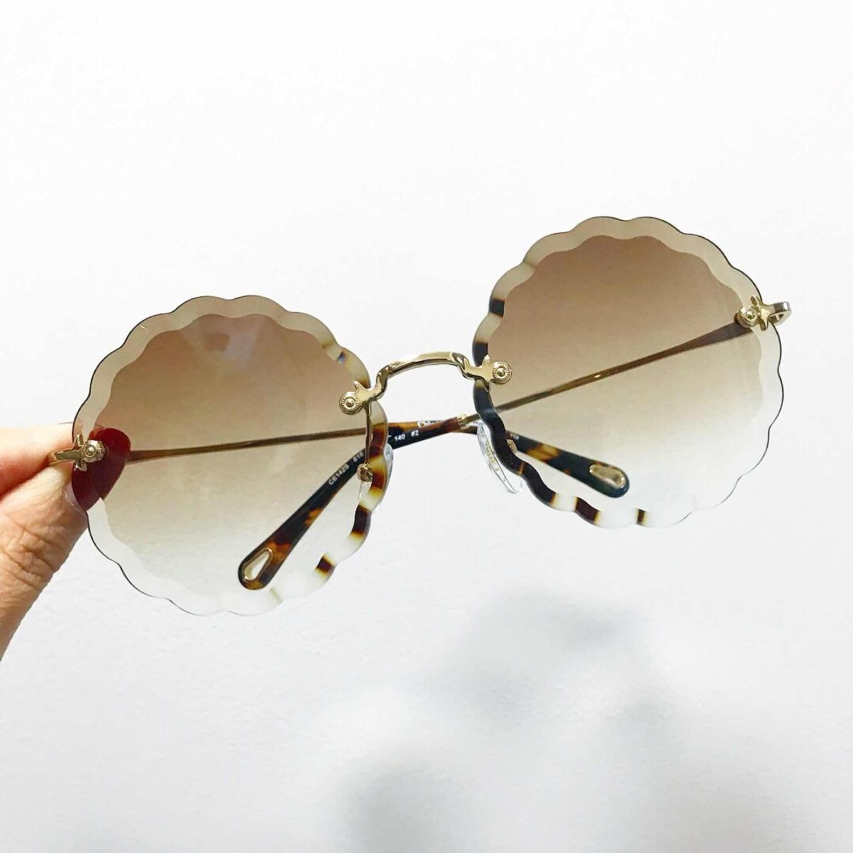 8214b02f1aea5 óculos chloé rosie carlina redondo flower feminino. Carregando zoom.
