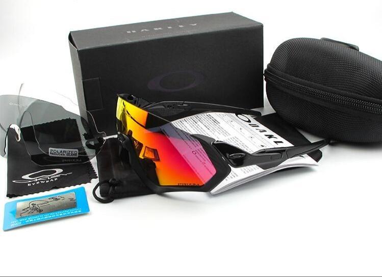 a0be9f8aca35e Óculos Ciclismo 3 Lentes Modelo Flight Jacket Oakley Uv 400 - R  169 ...