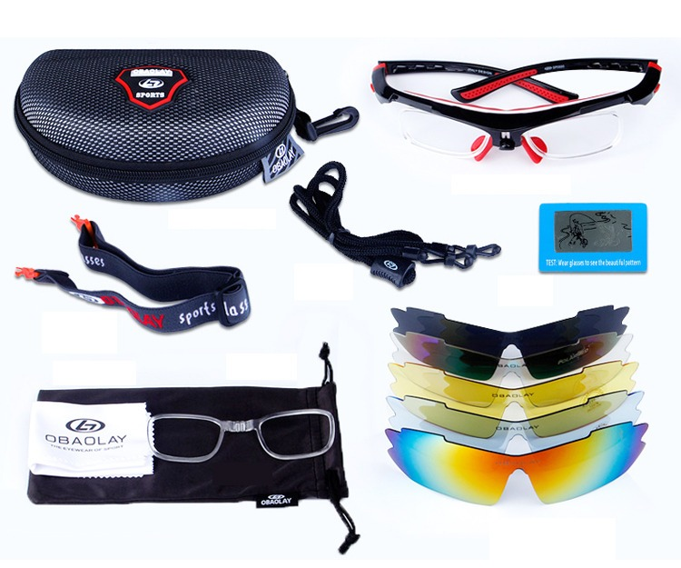 3dca48242bd17 Óculos Ciclismo 5 Lentes-polarizado Super Sport - Obaolay - R  180,00 em  Mercado Livre