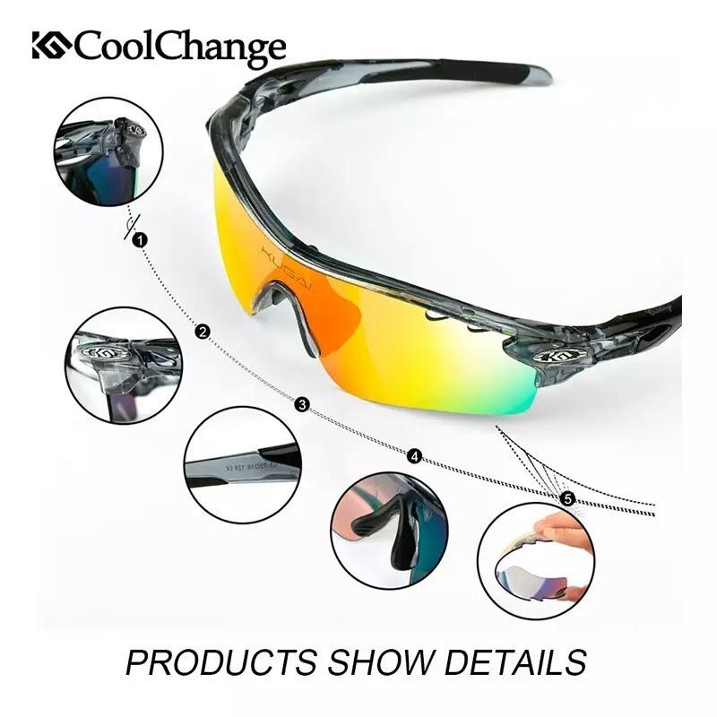 28538e16f519e óculos ciclismo 5 lentes uv + polarizado + grau + acessórios. Carregando  zoom.