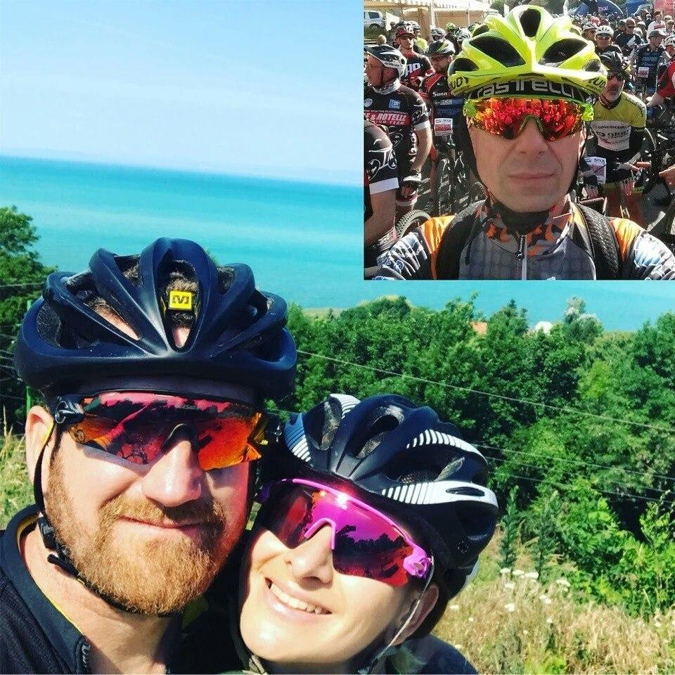 93e6e5203 Óculos Ciclismo Ciclista Feminino Masculino Bike Polarizado - R$ 120 ...
