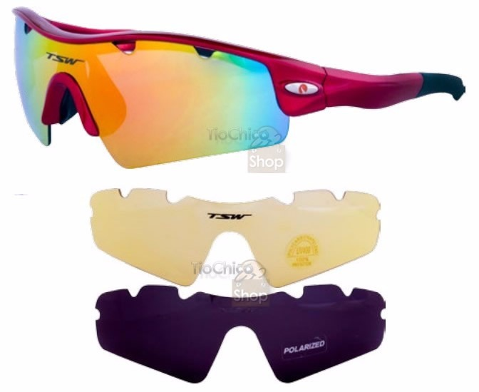 40895c3cd4 Óculos Ciclismo Corrida Bike Tsw Uv400 3 Lentes Mtb Speed - R$ 169,70 em  Mercado Livre