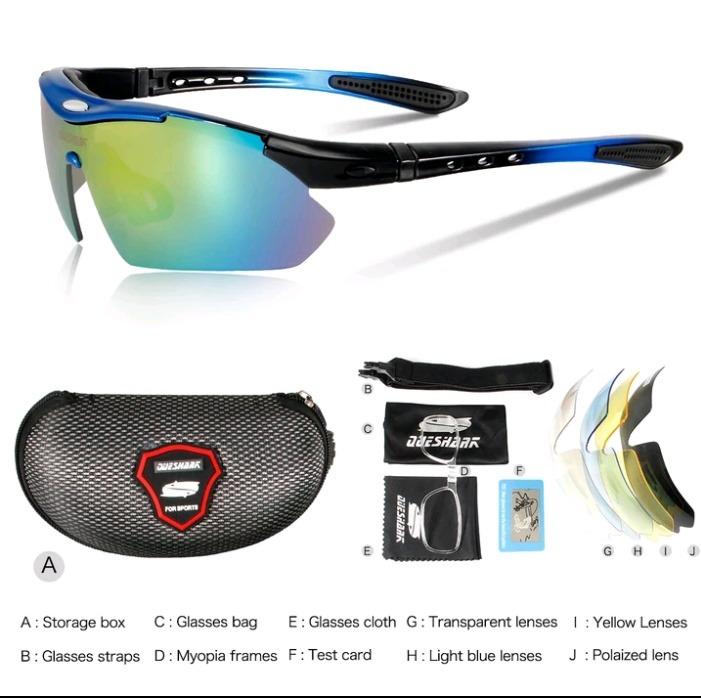 6c80235fb255f Óculos Ciclismo Esportivo Corrida Speed Mtb 5 Lentes Uv400 - R  120,49 em  Mercado Livre