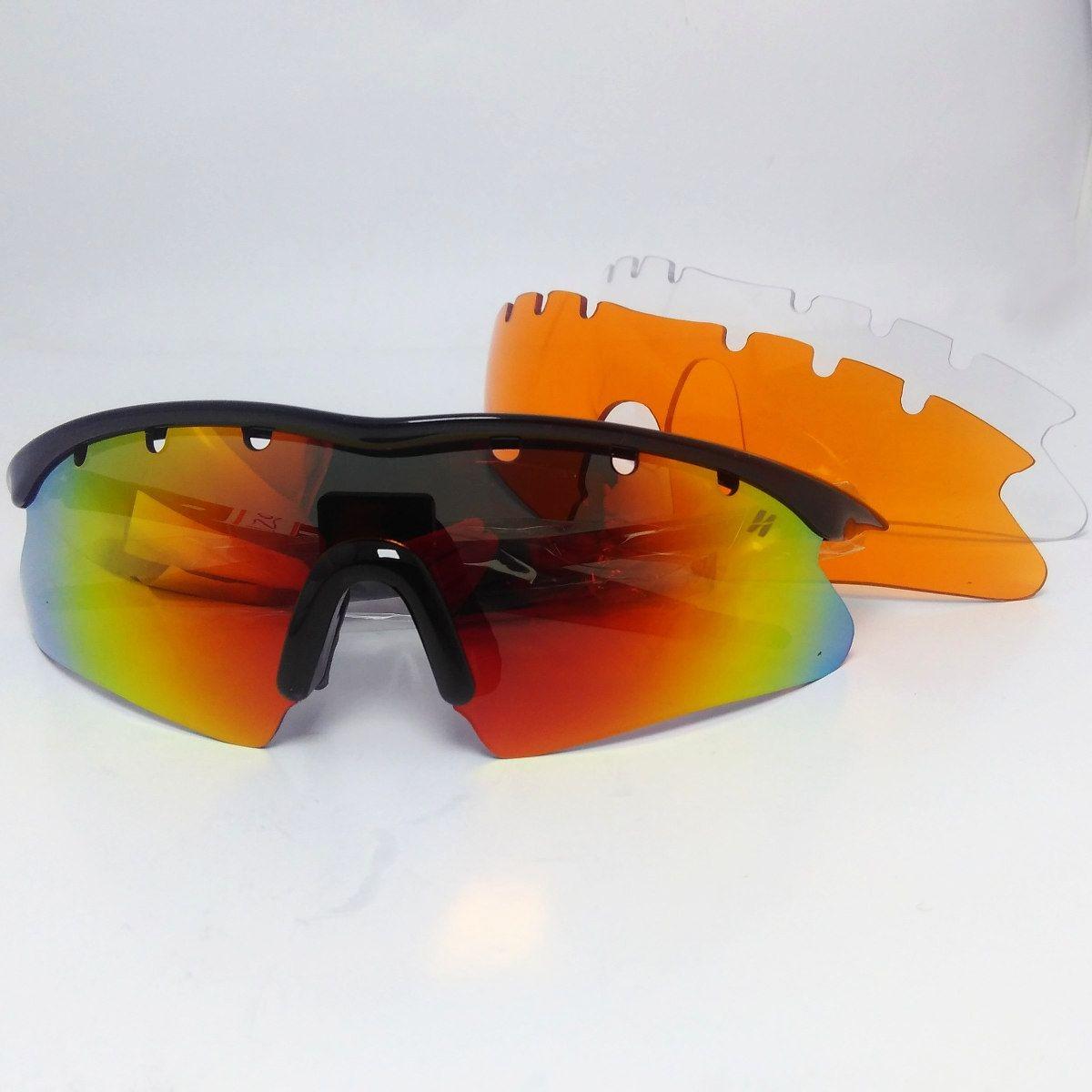 dfad00544bd9f Óculos Ciclismo High One Fusion 3 Lentes + Case Preto - R  129,00 em ...