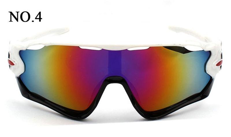 d506b5fcb6896 Óculos Ciclismo Masc Fem Proteção 100% Uv400 - Branco  Preto - R  49 ...