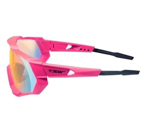 Óculos Ciclismo Mtb Proteção Uv400 3 Lentes Tsw Cross Pink - R  168 ... 432744a591