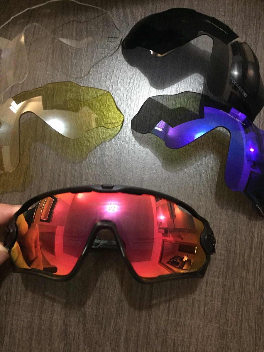 óculos ciclismo oakley jawbreaker 5 lentes com clip de grau · óculos  ciclismo oakley. Carregando zoom. d858e2f865