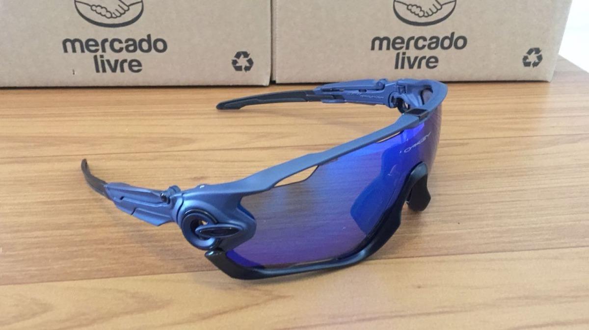 9b2c00a6c6 óculos ciclismo oakley jawbreaker 5 lentes com clip de grau. Carregando zoom .