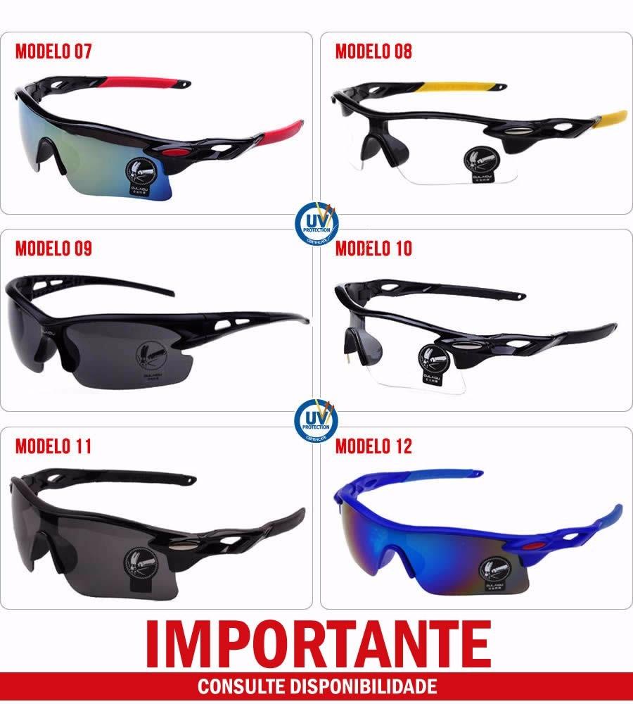 ba55a7a61 Óculos De Sol Ciclista Esporte Óculos Ciclismo Esportivo Uv - R$ 16 ...