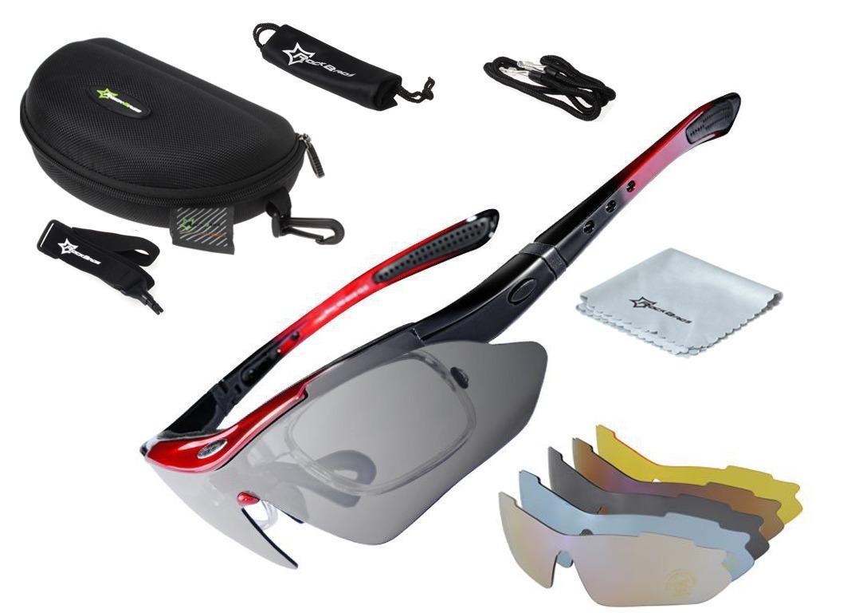 94c4f07392443 óculos ciclismo rockbros 5 lentes+estojo - frete grátis . Carregando zoom.