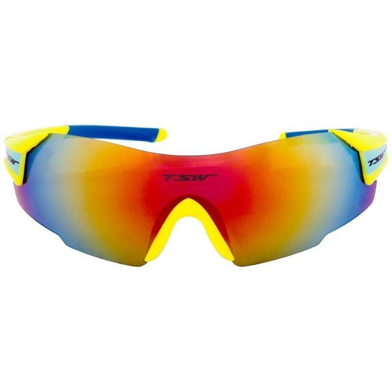 5a3f96020ba8e oculos ciclismo tsw vitalux amarelo   azul troca lente uv400. Carregando  zoom.