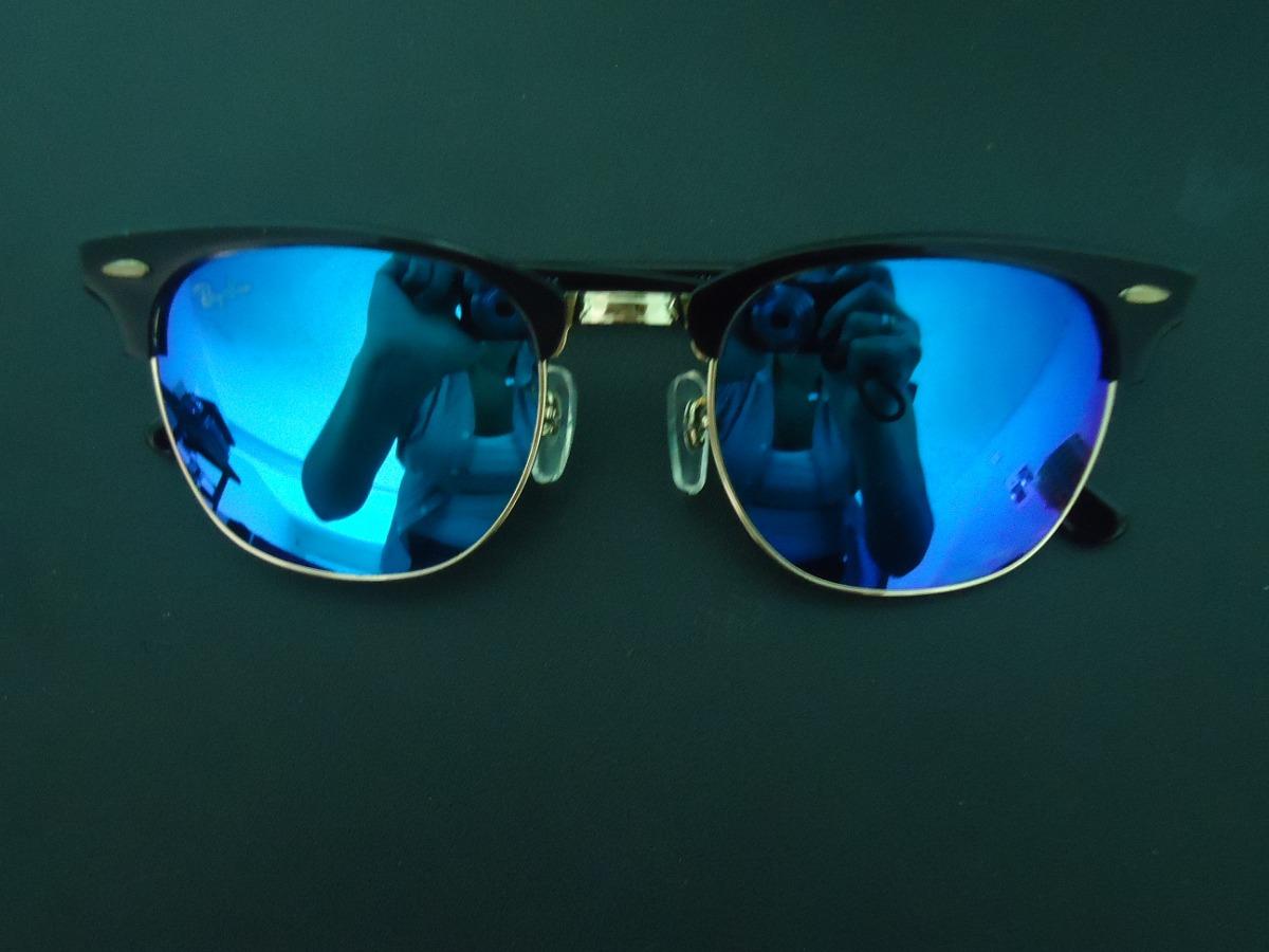 e75f4da085b8e óculos clubmaster 3016 preto lentes azul escuro espelhado. Carregando zoom.