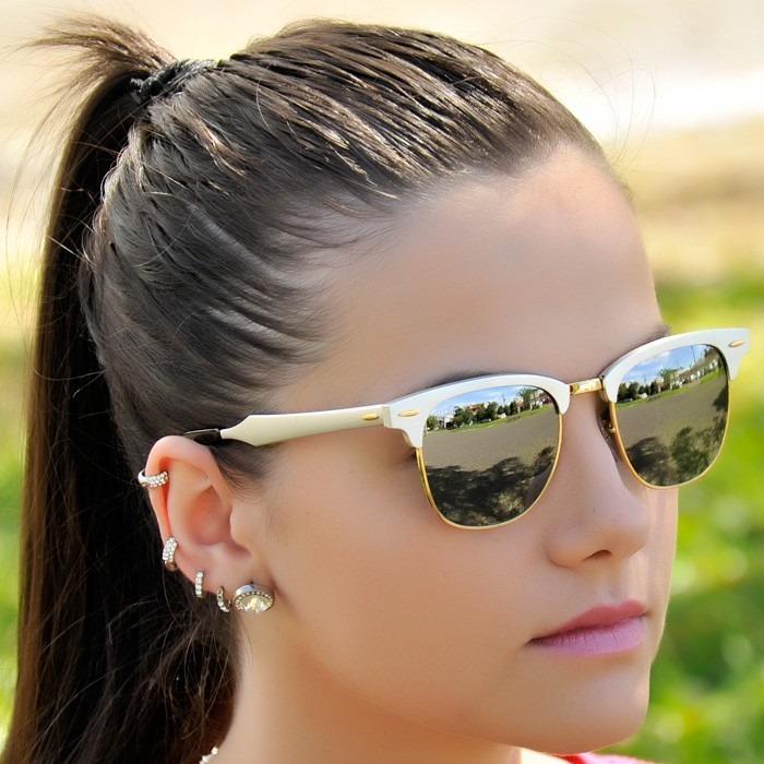 7db2220c5c1ca Óculos Clubmaster 3507 Aluminium Prata Espelhado Feminino - R  139 ...