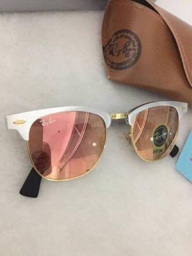 945ea220394f9 Óculos Clubmaster 3507 Aluminium Rosa Feminino Lente Cristal - R ...