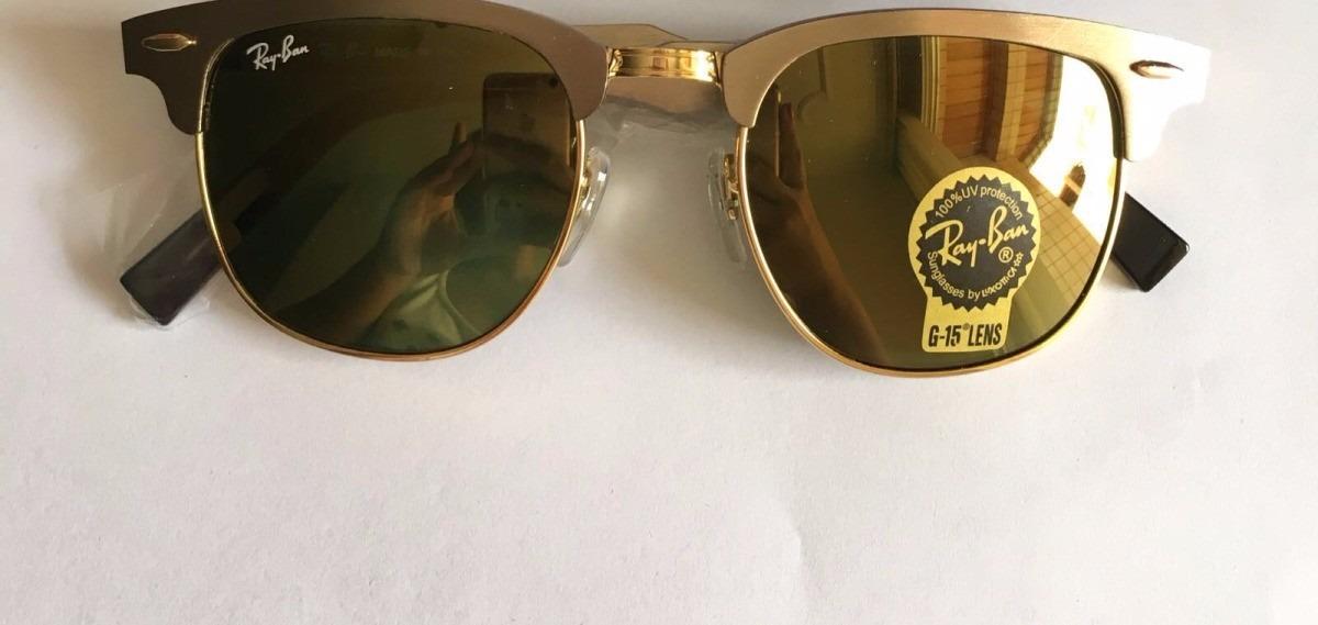 óculos clubmaster aluminium 3507 espelhado prata rosa retro. Carregando  zoom. 86d2c2b9fd