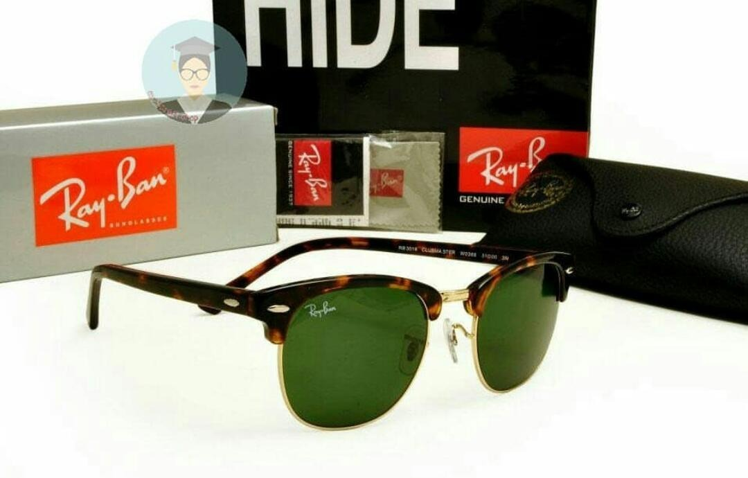 713014d6ddef3 óculos clubmaster rb3016 masculino feminino retro lente g15. Carregando zoom .