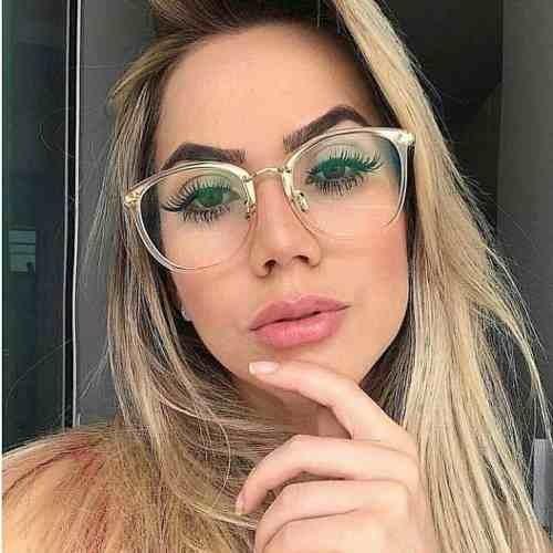 Óculos Coleção Nova Feminino Lente Clara Sem Grau Moda 2019 - R  59 ... 9fbb8469ff