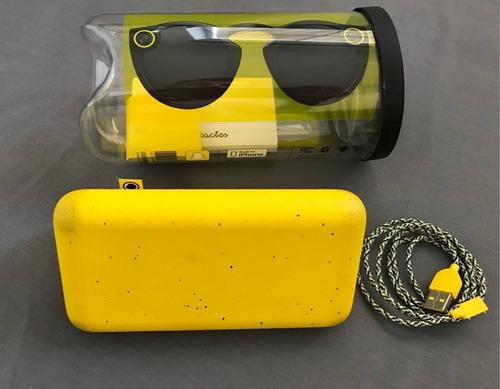 óculos com câmera do snapchat spectacles preto - original