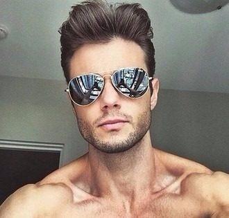 1ad35f6f6 Óculos Da Moda Masculino Escuro Aviador Estiloso Moderno - R$ 39,58 ...