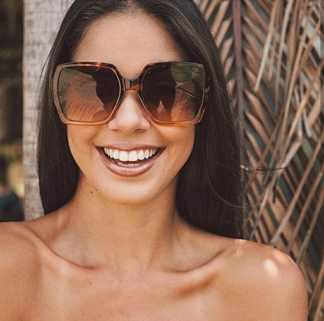973bbe7afd87d óculos da moda quadrado marrom oncinha feminino de luxo 2019. Carregando  zoom.