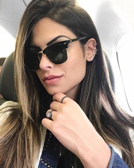 7e4f353a5cc67 Óculos Da Moda Retro Feminino Coleção 2018 Modinha Blogueira - R  39 ...