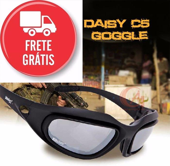 Óculos Daisy C5 Militar Tático Tiro Prático Airsoft Uv400 - R  121,99 em  Mercado Livre 6a1a21a88b