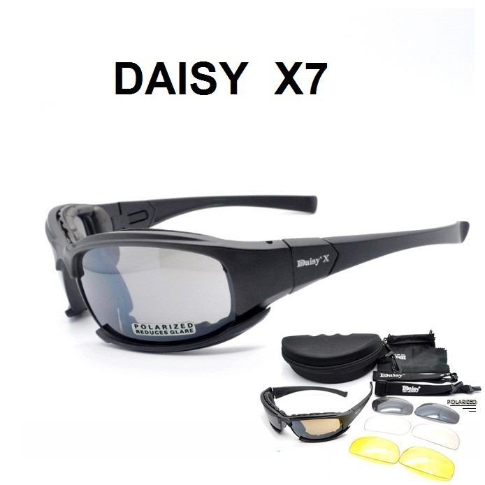 Óculos Daisy X7 Tático Airsoft Militar P O L A R I Z A D O - R  75 ... fa572ec4d6