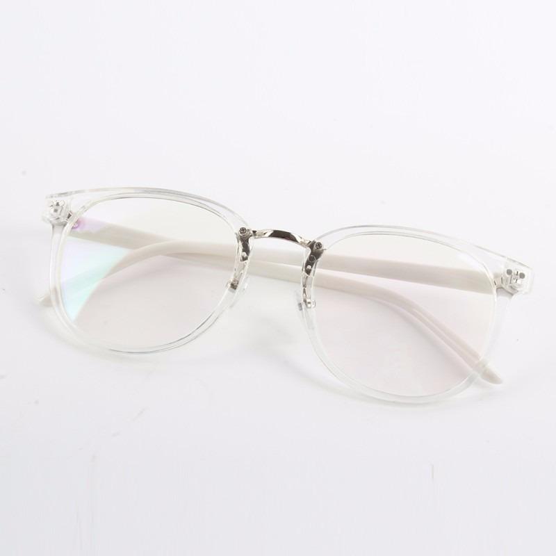 8bd4bf9c556c1 óculos de armação transparente vintage haste branca + brinde. Carregando  zoom.