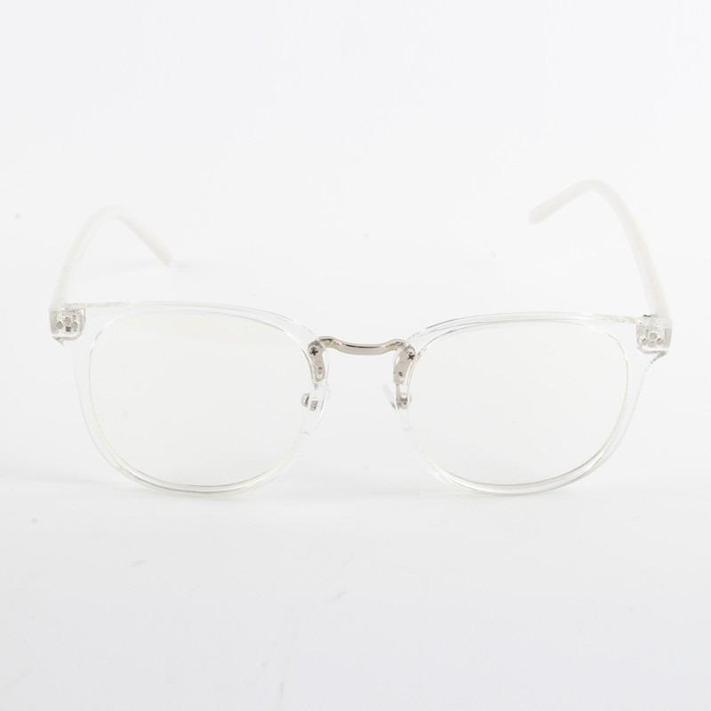 óculos de armação transparente vintage haste branca + brinde. Carregando  zoom. 8f313a5fdb