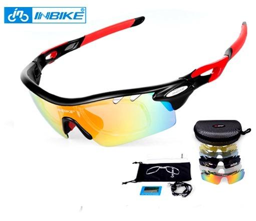 95d80c4acca3c Óculos De Ciclismo Inbike (5 Lentes) Transparente polarizada - R ...