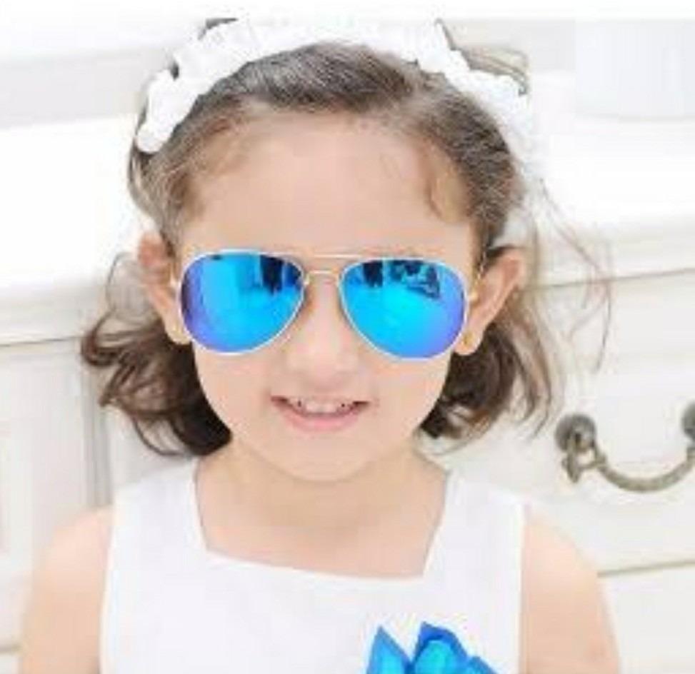 óculos de criança sem grau de sol espelhado aviador unissex. Carregando  zoom. 041b81dd08