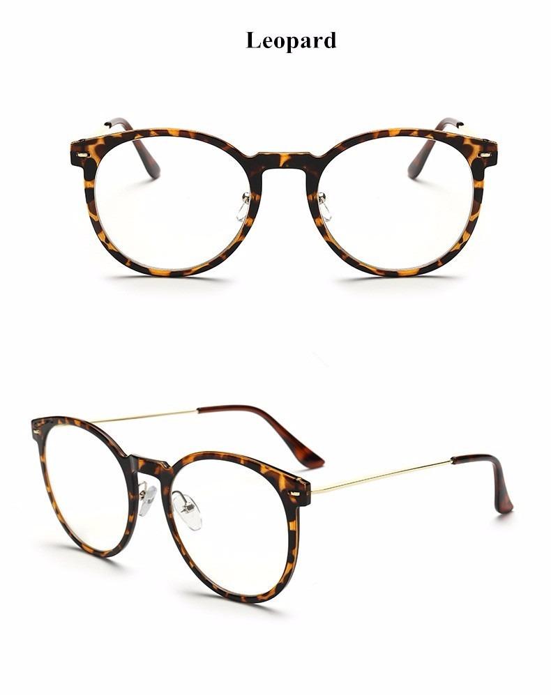 fe8c3029b3fc9 Óculos De Grau Acetato Leopard Redondo Com Plaqueta - R  72