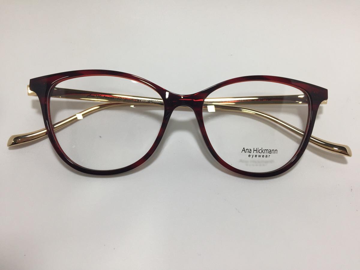 9df4142a5e111 Oculos De Grau Ana Hickmann London I Wine 54 16 150 - R  489