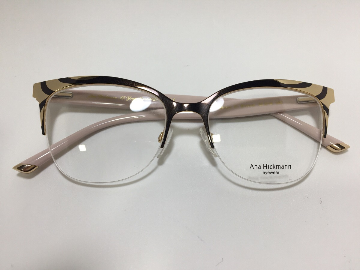 Oculos De Grau Ana Hickmann Milan Il Bronze 53 18 145 - R  442,00 em ... 556e78d2fa