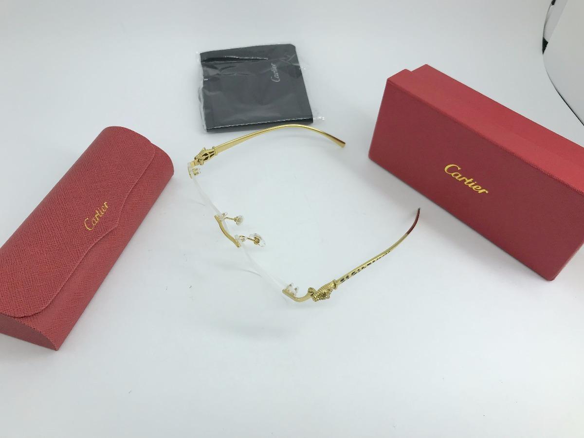 684553c86501 Oculos De Grau Armação Cartier Leopard Pantera - R  549