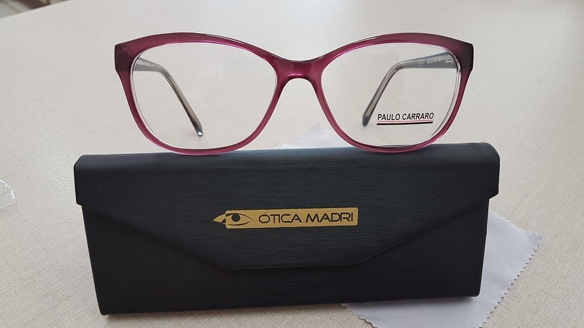 d47083a3bfcb0 óculos de grau armação feminina em acetato paulo carraro. Carregando zoom.