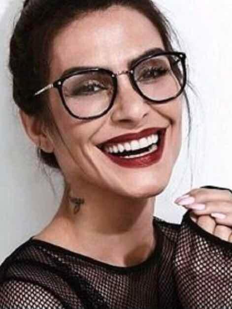 Óculos De Grau Armação Feminino Geek Redondo Quadrado Rêtro - R  48 ... 4de46d82a9