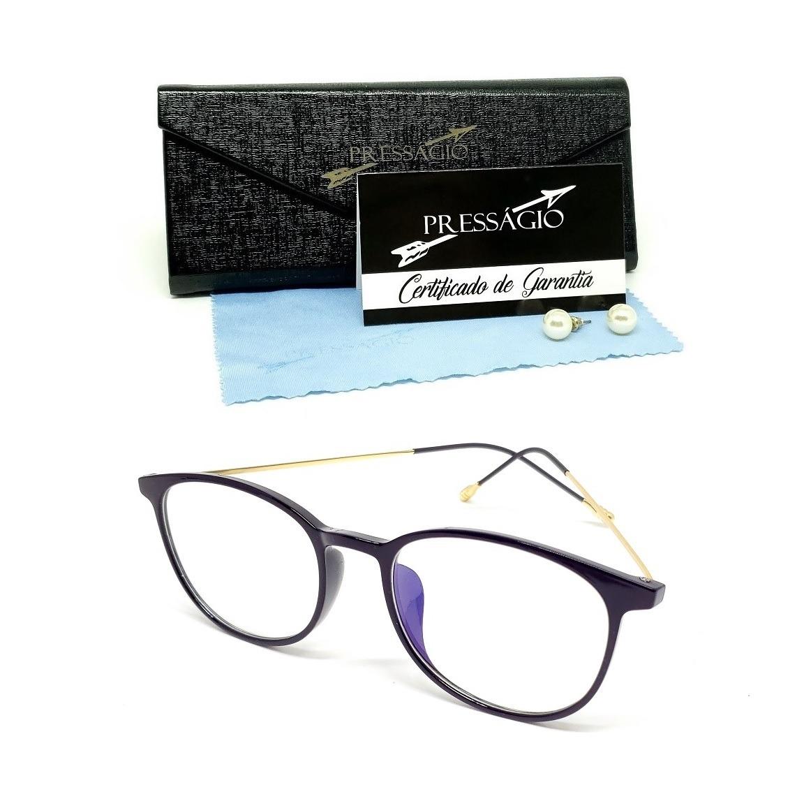 ae71fd53539aa óculos de grau armação feminino redondo geek leve c  brinde. Carregando zoom .