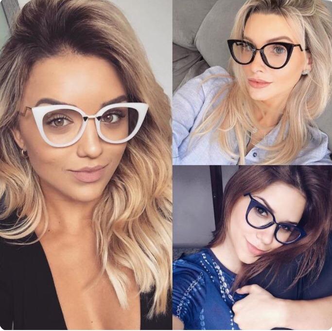 25ade87cf44ed Oculos De Grau Armação Fendi Gatinho - R  79,99 em Mercado Livre
