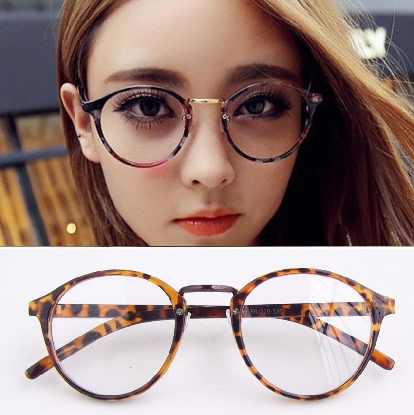 3b6a2fb89b5df oculos de grau - armação redondo retro de oncinha. Carregando zoom.