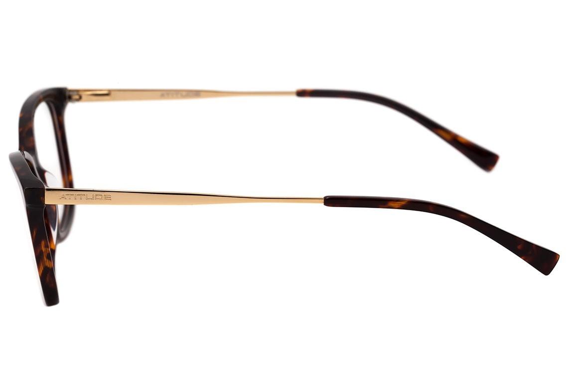 Óculos De Grau Atitude At 4123 G21 Marrom - 08 - R  166,00 em ... c5103d66c4