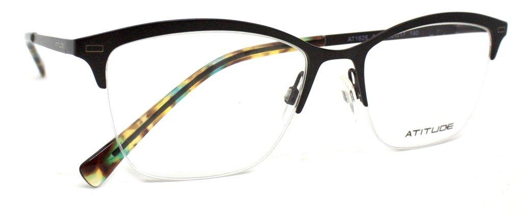 fd23e3183 óculos de grau atitude at1626 metal (preto 01a, 52-17-140). Carregando zoom.