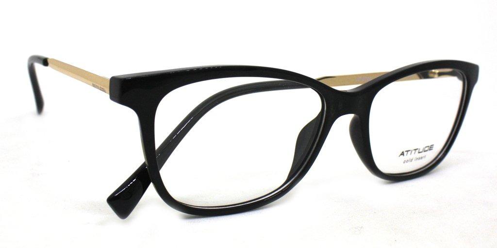 346b944a80ab8 Óculos De Grau Atitude At4044 Acetato (preto A01