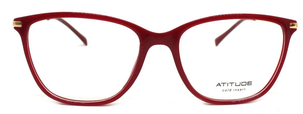 2eaeadc8b34ff Óculos De Grau Atitude At4113 Acetato (vermelho D01