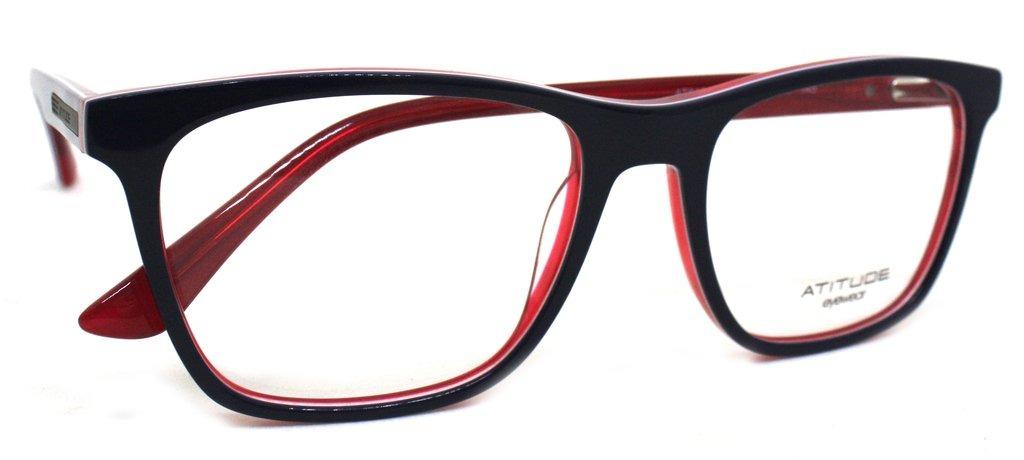 ba21b3568b816 Óculos De Grau Atitude At6185 Acetato (azul vermelho H01