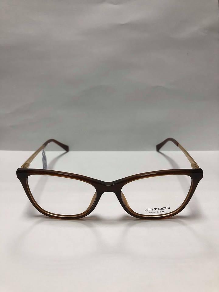 46f70177f Óculos De Grau Atitude At6198l T02= 05 - R$ 194,00 em Mercado Livre