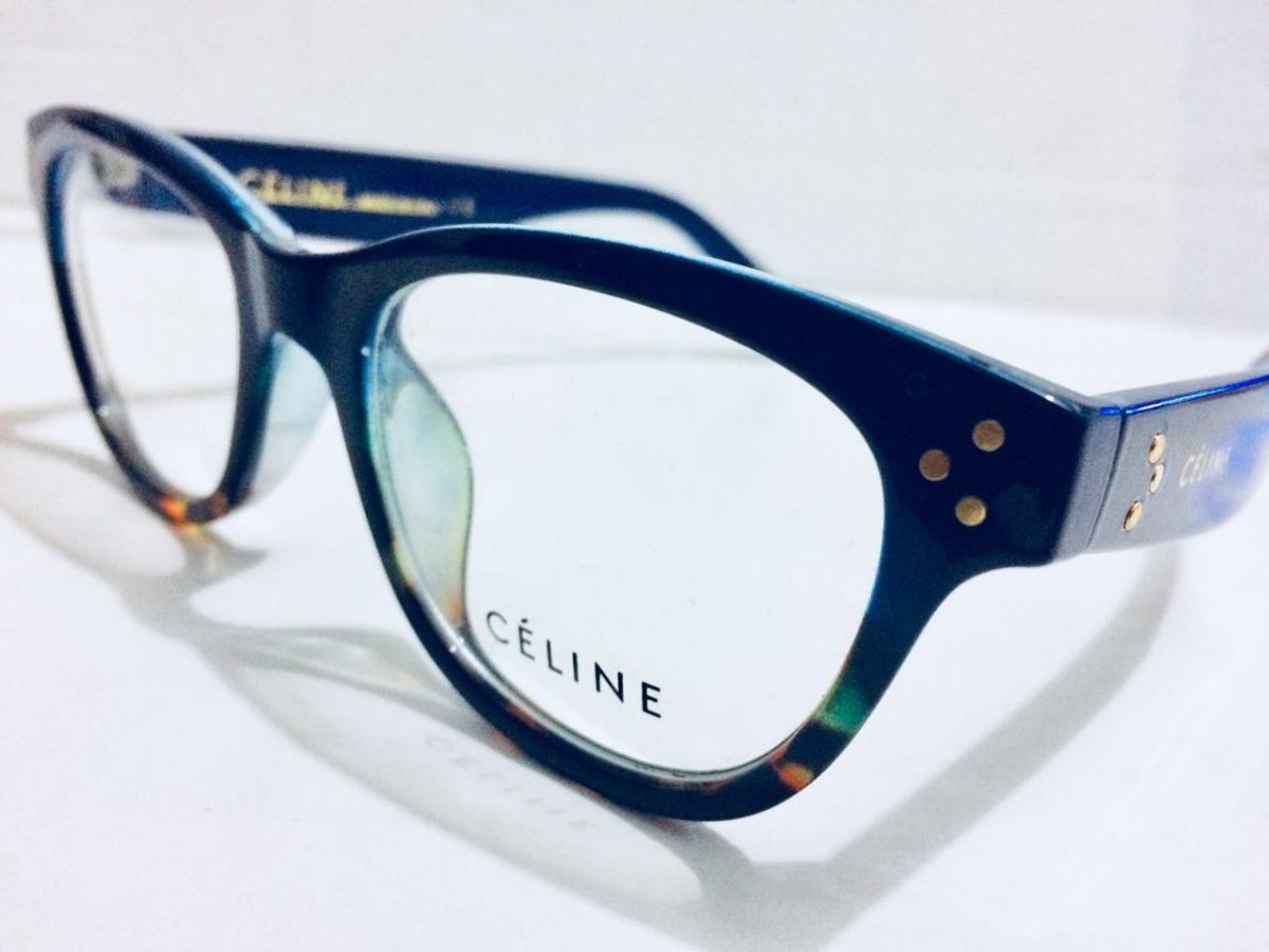 5eb08271399 oculos de grau celine em acetato armação azul marinho -ce601. Carregando  zoom.